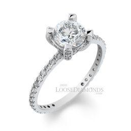 Platinum Vintage Style Diamond Engagement Ring