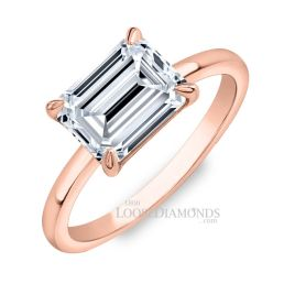 18k Rose Gold Solitaire Diamond Engagement Ring