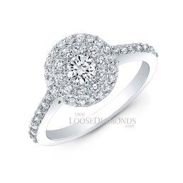 Platinum Modern Style Cluster Diamond Ring