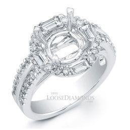 14k White Gold Classic Style Diamond Engagement Ring