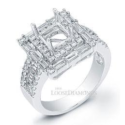 Platinum Vintage Style Diamond Halo Engagement Ring