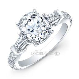 Platinum Modern Style Diamond Ring
