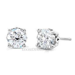 14k White Gold GIA Certified Diamond Studs