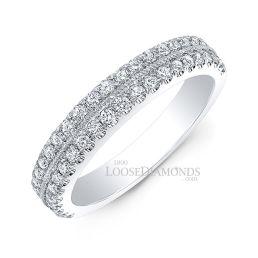 14k White Gold Vintage Style Engraved Wedding Diamond Band