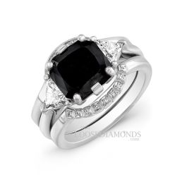Platinum Modern Style Diamond Wedding Set