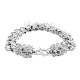 14k White Gold Mizuchi Dragon Bracelet