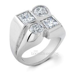 14k White Gold Art Deco Style Diamond Cocktail Ring