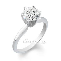 Platinum Classic Style Solitaire Engagement Ring