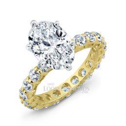14k Yellow Gold Classic Style Diamond Engagement Ring