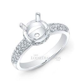 18k White Gold Vintage Style Diamond Engagement Ring