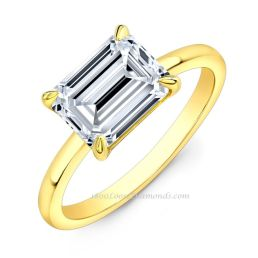 18k Yellow Gold Solitaire Diamond Engagement Ring