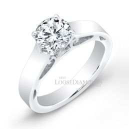 Platinum Modern Style Solitaire Engagement Ring