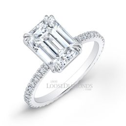 14k White Gold Modern Style Diamond Engagement Ring