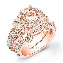 18k Rose Gold Art Deco Style Diamond Wedding Set