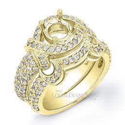 18k Yellow Gold Art Deco Style Diamond Wedding Set