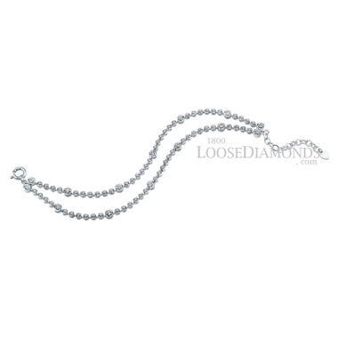 14k White Gold Classic Style Diamond 2 Strand Bracelet