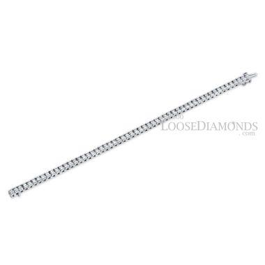 14k White Gold Classic Style Round Diamond Tennis Bracelet