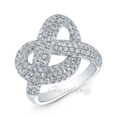 14k White Gold Art Deco Diamond Cocktail Ring