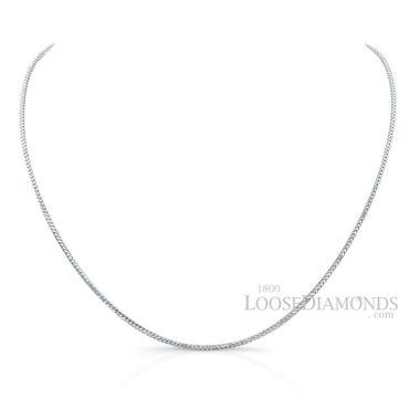 14k White Gold Franco Gold Chain