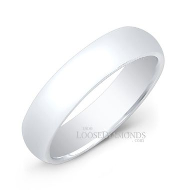 14k White Gold 5mm Comfort Fit Wedding Gold Band