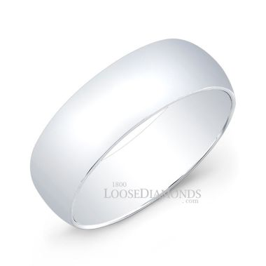 14k White Gold 7mm Comfort Fit Wedding Gold Band