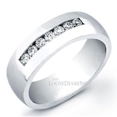 14k White Gold Men's Classic Style Diamond Ring