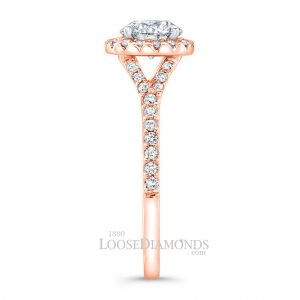 Rose Gold Diamond Halo Engagement Rings